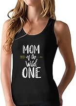 Tstars - Mom of The Wild One Funny 1st Birthday Racerback Tank Top