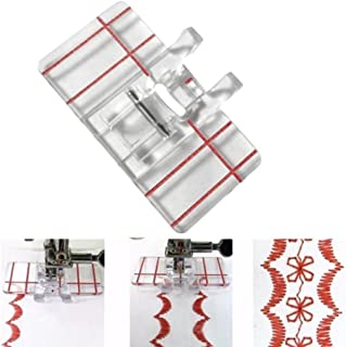 YRD TECH Clear Plastic Parallel Stitch Foot Presser For Home Domestic Sewing Machine (Clear)