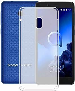 YZKJ Skal för Alcatel 1C 2019 skydd, mjuk mobiltelefonficka halv-hållbar TPU mobilskal silikon väska skal skal skal fodral...