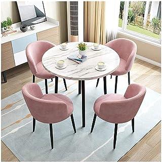 Table de salle à manger et chaise combinée pour salon, balcon, loisirs, café, boulangerie, salon 80 cm (Couleur : bleu)