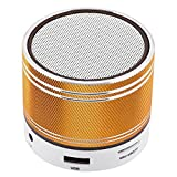 TOPEPOP Portable Bluetooth Speaker Wireless Speaker Mini Stereo Speaker Handsfree Call Desktop Led Speaker with Microphone 3.5mm Aux Line TF Card Slot Compatible with Android iOS Smartphones Laptops