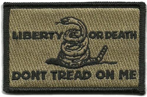 Shoulder Patch Culpeper Liberty Or - Death National uniform free shipping Tan Over item handling Coyote