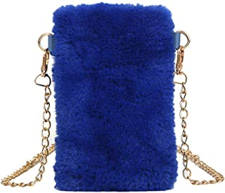 Ultramall Women's Ladies Fashion Solid Flock Phone Bags Crossbody Shoulder Messenger Bags For Women