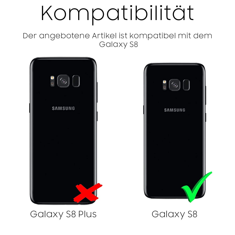 Urcover Funda Galaxy S8, Carcasa Mejorada Samsung Galaxy S8 Cover 360 Grados, Carga inalámbrica Qi, Case Transparente: Amazon.es: Electrónica