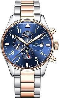 ساعت اتوماتیک سوئیسی ساعت مچی مردانه ساعت بزرگ ساعت مکانیکی از جنس استنلس استیل ضد زنگ ساعت مچی