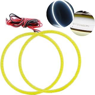 GrandviewTM 2 x 100mm COB Angel Eyes Halo Ring Lamp Light Bulb 72SMD LED Fog Light Headlight For BMW Benz 12V-White