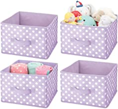 mDesign Soft Fabric Closet Storage Organizer Holder Box Bin - Attached Handle, Open Top, for Child/Kids Bedroom, Nursery, ...