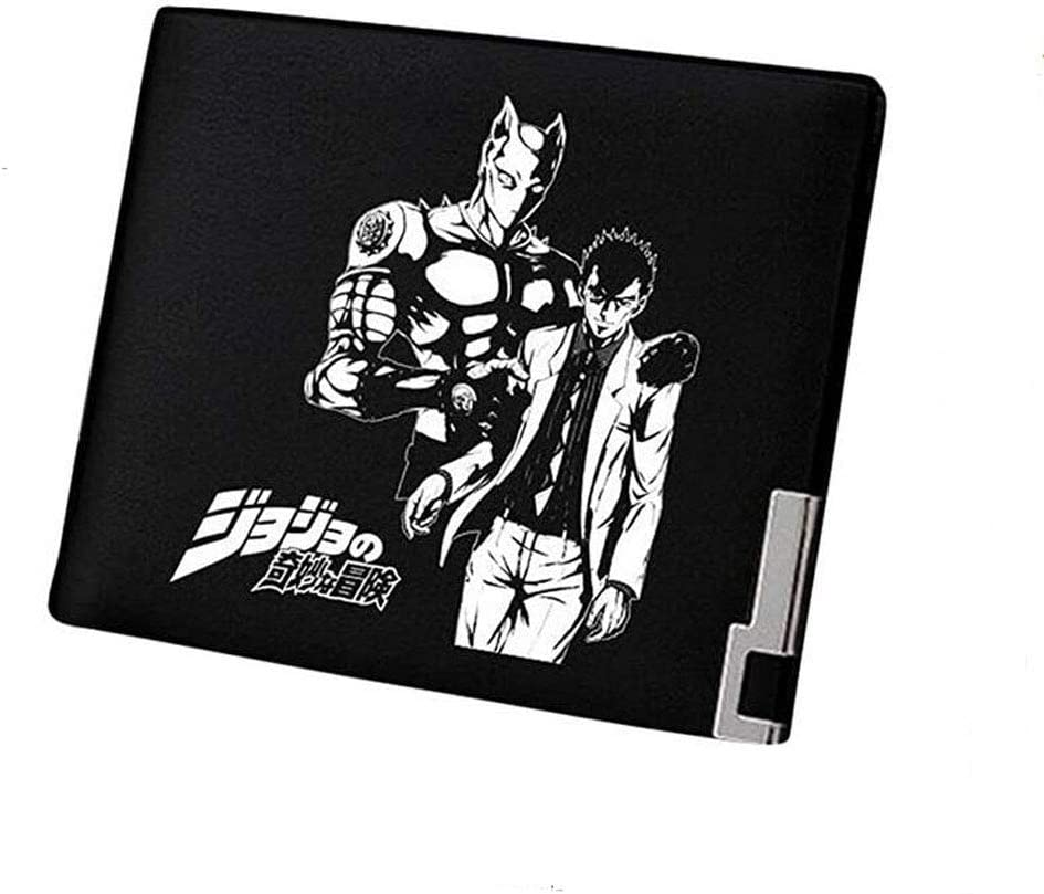JoJo's Bizarre Adventure Anime Artificial Leather Wallet Billfold Money Clip Card Holder (#6)