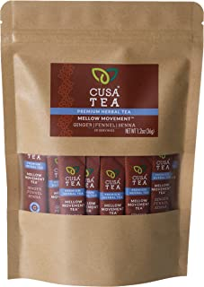 Cusa Tea: Mellow Movement Herbal Tea - Gentle Laxative Tea With Senna Leaf - No Sugar and Artificial Flavors - Tangerine P...