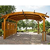 Sonoma Arched Wood Pergola 16x16 Redwood