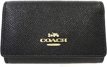 [コーチ] COACH コーチキーケース クロスグレイン レザー 5連キーケース F76741 IMBLK ブラック [並行輸入品]