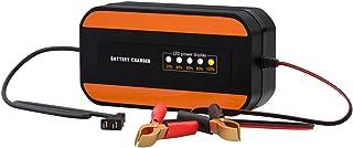 Batteriladdare för bil 12V digital display pulsreparation blybatteri motorcykel batteriladdare (orange)