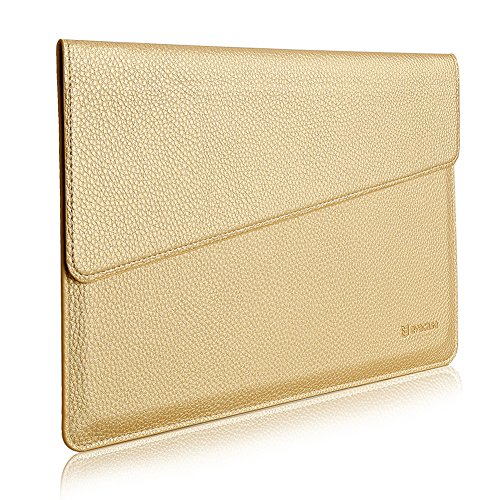 "MacBook 12 Sleeve, Evecase Sottile in Pelle Premium Custodia Portatile per 2015 Nuovo MacBook 12"" con Retina Display - Oro"