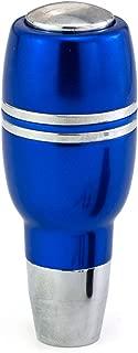 Thruifo Button Car Knob Shifter Head, Missile Shape Aluminum Alloy Gear Stick Shift Fit Most Automatic Vehicles, Blue