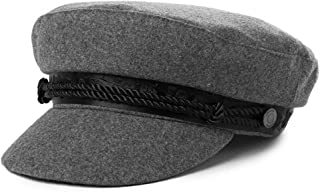 Fancet Womens Wool Blend Visor Beret Newsboy Cap Winter Hat 56-58cm