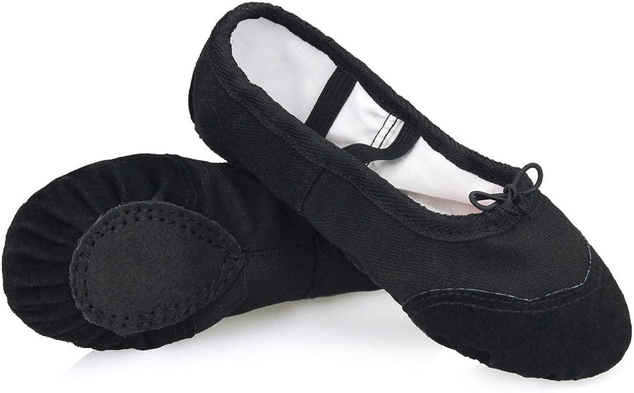Daydance Ballet Slippers Soft Split Sole Dance Shoes (Toddler, Kids, Boys, Girls, Adult)