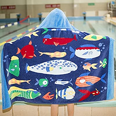 Hiistar Thick Microfiber Surf Wetsuit Changing Poncho Towel with Hood – Hooded Bath Robe Poncho - One Size Fit All