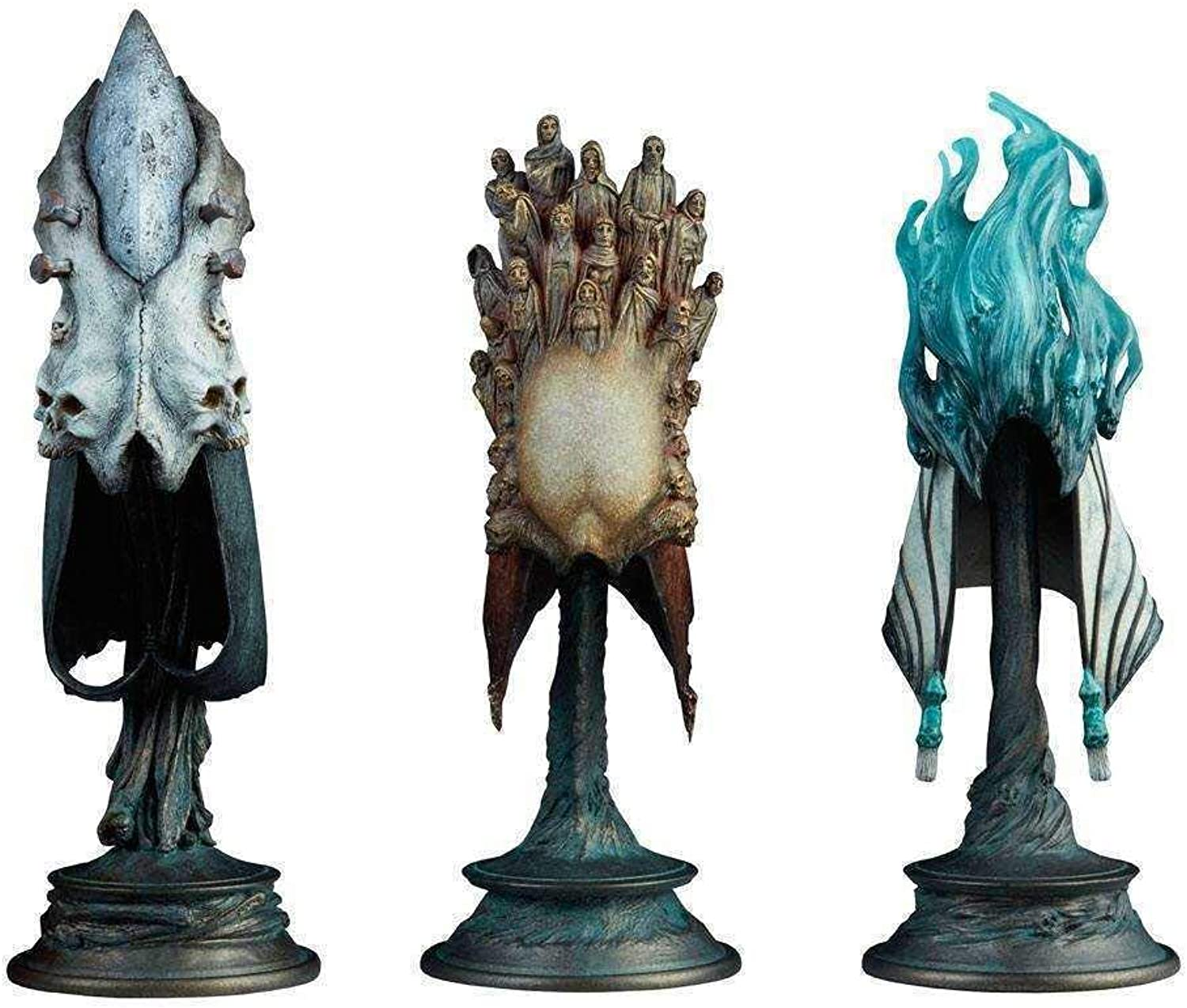 Court of the Dead Replicas 3-Pack 1 4 The Aspects of Death Mask 20 cm Sideshow