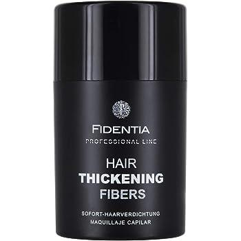 FIDENTIA Premium Schütthaar zur Haarverdichtung & Ansatzkaschierung | 10g Haarpuder | Streuhaar 100% natürlich & vegan aus Baumwolle - Schwarz