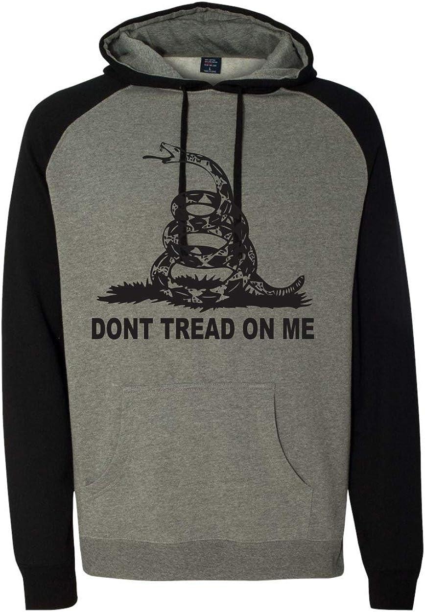 Patriot Apparel Don't Tread On Me Raglan Patriotic Hooded Sweatshirt Hoodie