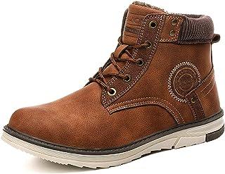 Hiver Cheville Bottes de Neige Chaussures Pour Hommes Chaud Fourrure Doublure Bottes de Neige en Peluche Chaud Hommes Impe...