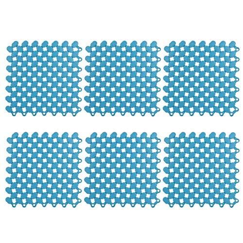 Omabeta Alfombrilla Antideslizante Alfombrilla de baño Alfombrilla de Empalme SPA cómodo para Cocina(Blue)