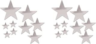 Beistle Beistle , 18 Piece Packaged Foil Star Cutouts, Assorted Sizes (Silver), Assorted Sizes, Silver