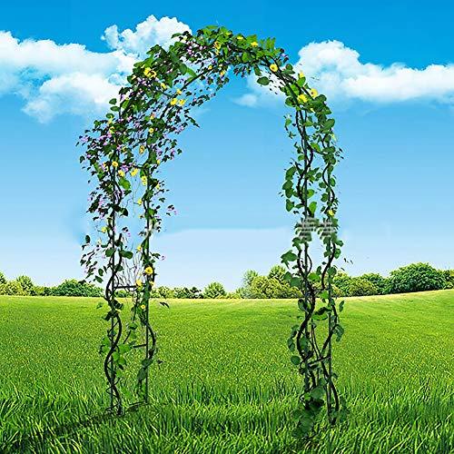 CJF Garden Arbors Metal Wedding Arch Outdoor Indoor Pergola Lightweight Metal Arbor Wedding Garden Arbor Bridal Arch Arbor Party Decoration
