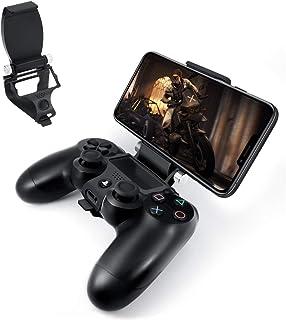 Newseego PS4 Controller Tablet & Phone Mount,Controlador PS4 Plegable Soporte de Fijación Inteligente con Cables OTG para ...
