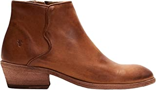 Frye Women's Carson Piping Bootie Ankle Boot, Caramel, 6