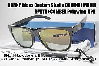 カスタム偏光サングラス SMITH スミス Lowdown2 Black ローダウン/COMBEX Polawing SPX102 CR 4C HMM フィールドグレイGOLDミラー