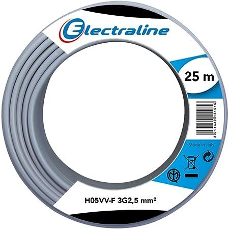 Vendu au m/ètre C/âble souterrain NYY-J avec 3 brins de 2,5/mm/² Coupe par pas de 1 m/ètre Pour circuit de courant fort Exemple: 20 m etc 35 m 25 m 50 m Ligne de terre en/PVC noir