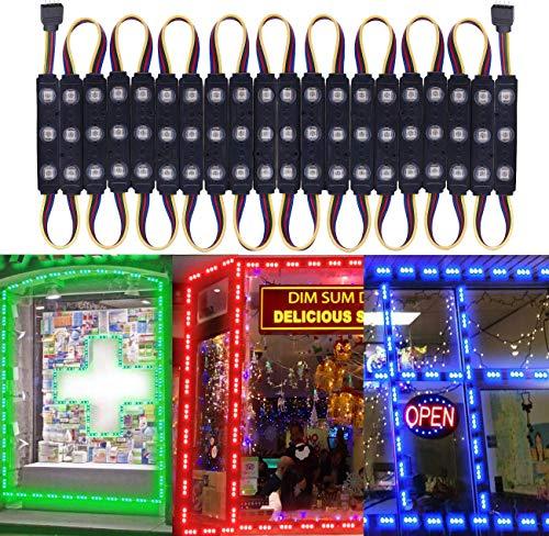 LED Window Lights LED Module Lights Pomelotree Waterproof Storefront Lights Business Decorative Lights 12V 5050 LED Lights for Advertising LED Signs business store light 20FT (2 packs)