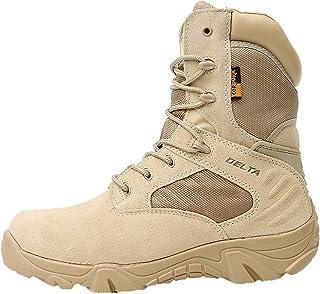 MERRYHE Bottes de Combat dans Le désert pour Hommes, Bottes Militaires décontractées, Chaussures d'escalade de Sports de P...