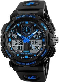 Andoer 1270 Quartz Digital Electronic Men Watch Fashion Casual Casual Outdoor Sports Male Wrist Watch Dual Time Date Weeee...