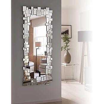 DISARTE - Espejos Modernos de Cristal - New York Vestidor (154x60): Amazon.es: Hogar