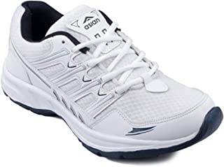 ASIAN Wonder-11 White Blue Running Shoes,Training Shoes,Gym Shoes,Sports Shoes for Men UK-12