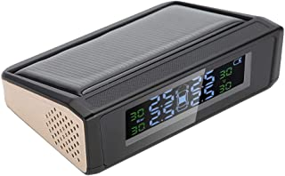 Hlyjoon TPMS Receiver Car Vehicle Sistema di monitoraggio della Pressione dei Pneumatici Solare Wireless DC 5V Display LCD Digitale Allarme Monitor con 4 Kit sensori Esterni
