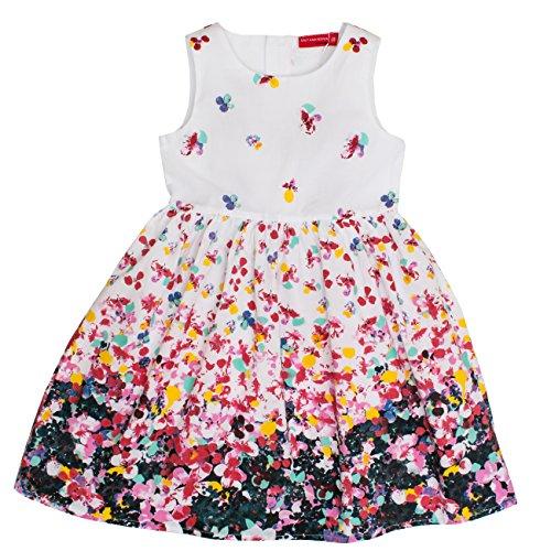 SALT AND PEPPER Mädchen Dress Blumenwiese Kleid, Mehrfarbig (Original 099), 92 (Herstellergröße:...