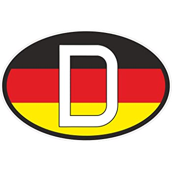 D Sign Mark Sticker Plaque Germany Sign 10 X 14 Cm Black Red Gold Auto