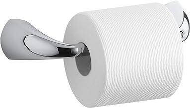 Suporte de papel higiênico da Kohler, suporte de papel higiênico para banheiro, coleção Alteo, cromo polido, K-37054-BN