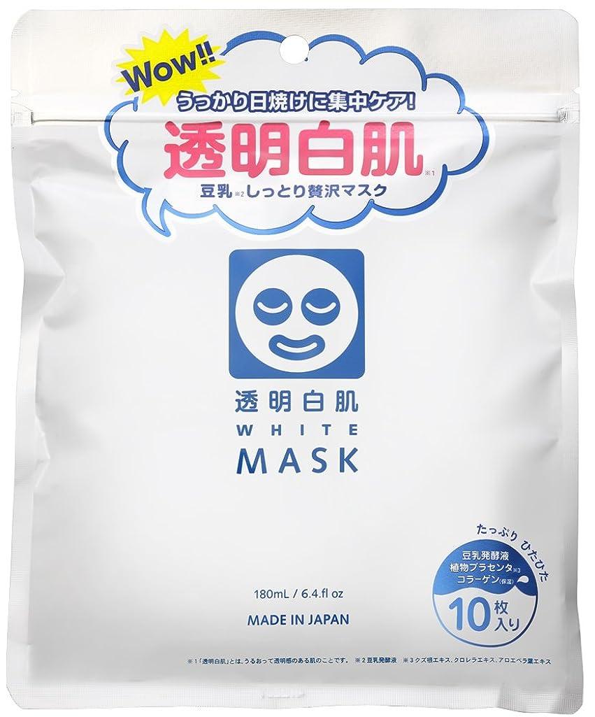 ウィンク避難すすり泣き透明白肌 ホワイトマスクN 10枚入