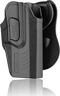 CYTAC Glock 19 Holsters, OWB Holster for Glock 19 19X 23 32 Gen 1 2 3 4, Glock 19 Gen 5, Tactical Outside The Waistband Polymer Paddle Holster -Right Hand