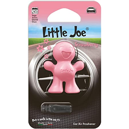 Little Joe In Mini Blister By Sunstop Made In Italy Air Freshener 45 Days Freshness In The Vehicle Simply Attach To The Air Vent With The Enclosed Clip Strawberry Pink Auto