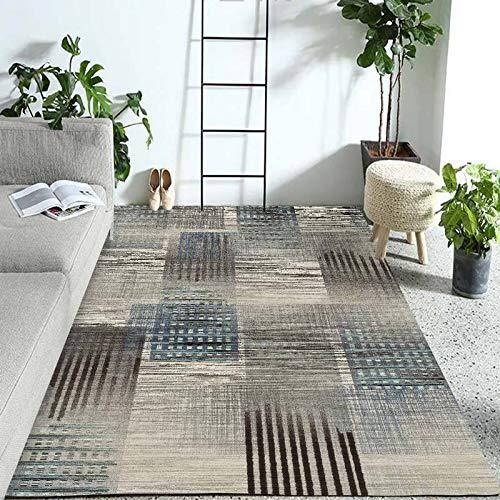 SN Huipneg Alfombra de área grande para sala de estar dormitorio alfombras nórdicas modernas geométricas niños gateando alfombra lavable antideslizante 80 x 120 cm