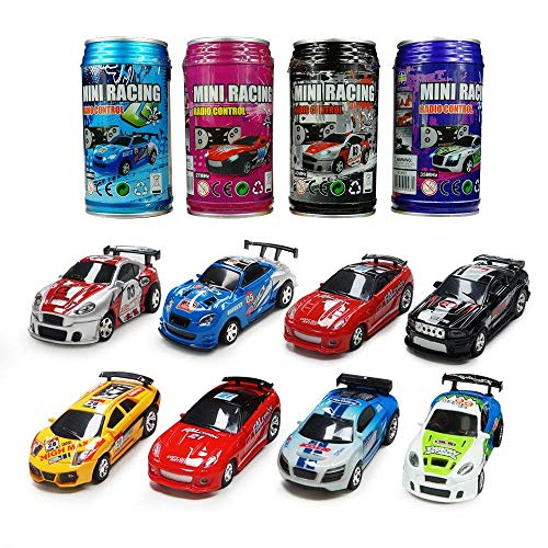 ARRIS Multicolor Coke Can Mini Racing Cars Radio Control Remoto Micro Speed RC Car Hobby Vehicle Toy Gift para niños niñas (1pcs)
