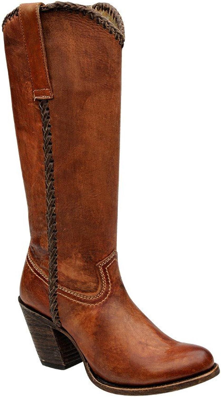 Damen Damen Cowboystiefel Westernstiefel, Größe 39;Farbe Acido Miel  großer Rabatt
