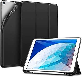 ESR iPad Air 2019 ケース iPad Air3 10.5インチ ソフトTPU 第一世代Apple Pencil収納 耐衝撃 傷防止 オートスリープ機能 軽量 薄型 三つ折りスタンド スマートカバー 2019年発売の10.5インチ iPad 対応(ブラック)