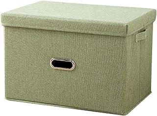 Bverionant Panier de Rangement Pliable Boîte de Rangement avec Couvercle Bin Container de Rangement Organiseur avec Poigné...