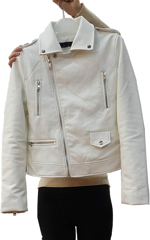 LY VAREY LIN Women's Zipper Motorcycle Biker Faux Leather Jackets